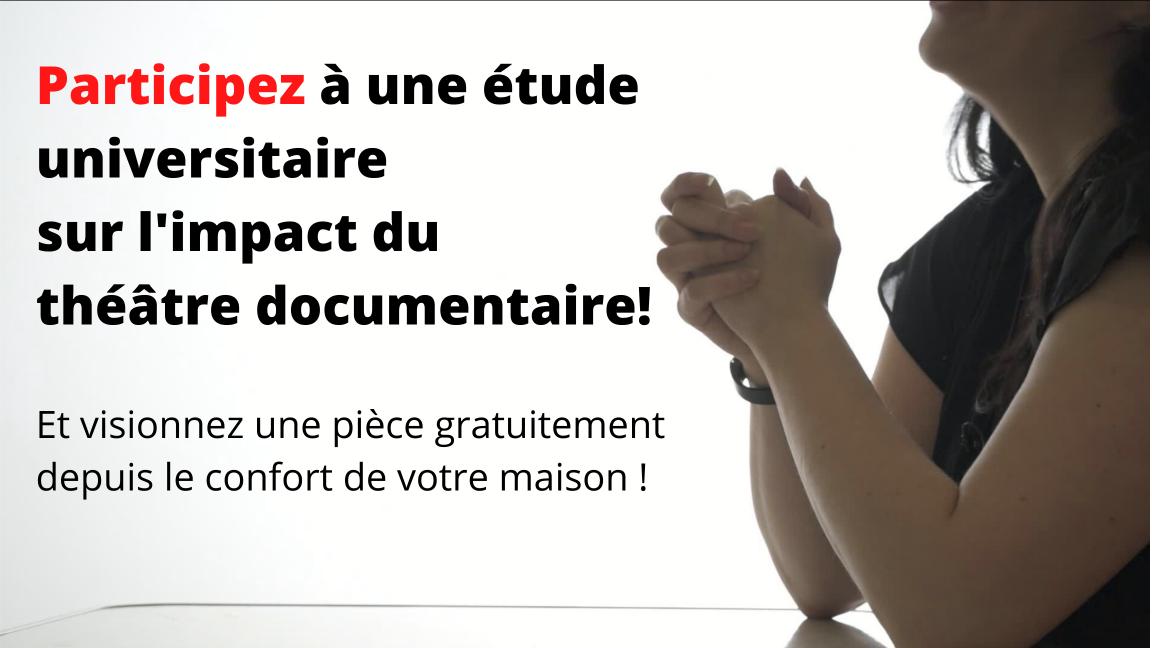 Projet de recherche sur le théâtre documentaire