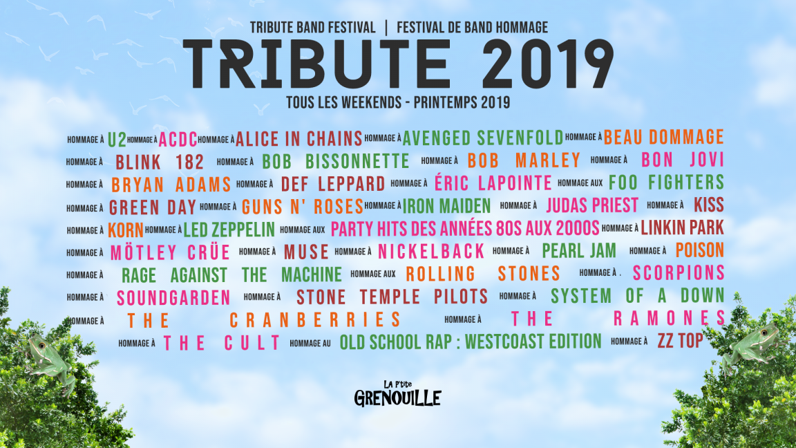 Tickets : Tribute 2019 | Free meal before 19:00