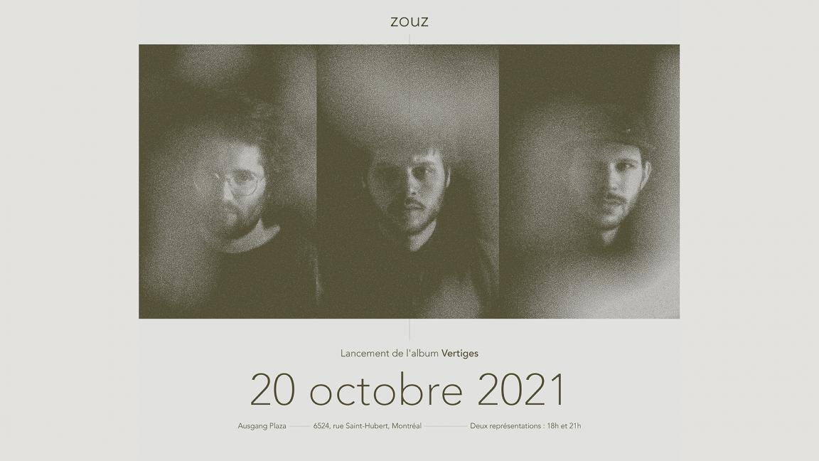 Zouz - Lancement de l'album Vertiges