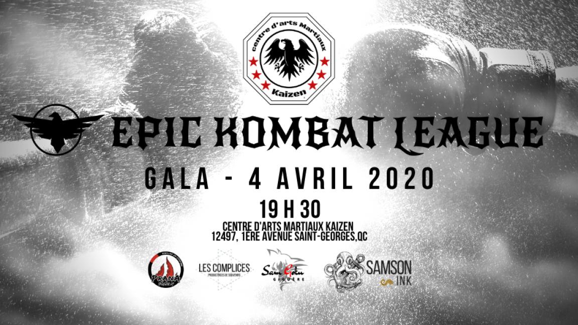 Gala MMA - 4 avril 2020