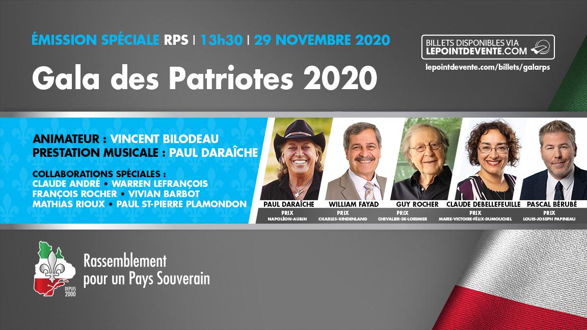 Gala des Patriotes 2020 du Rassemblement pour un pays souverain