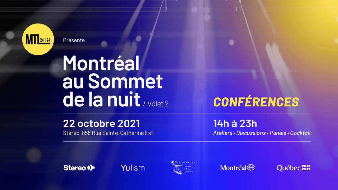 CONFÉRENCES | Montréal au Sommet de la nuit - volet 2