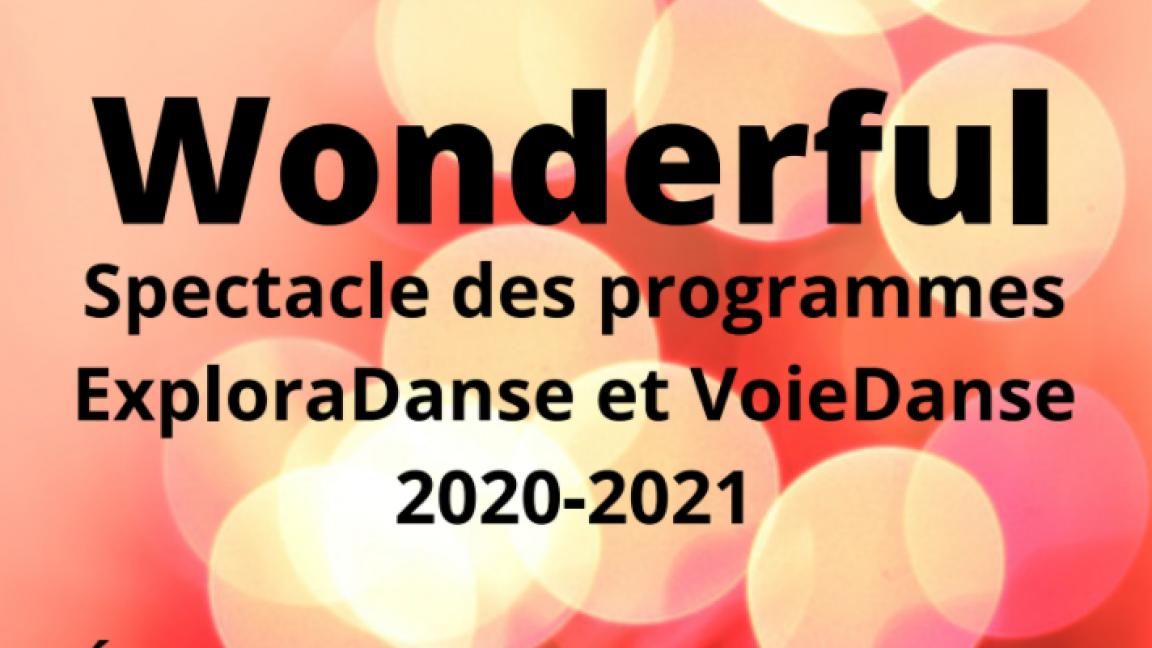 Wonderful- Spectacle danse JHL 2020-2021-supplémentaire