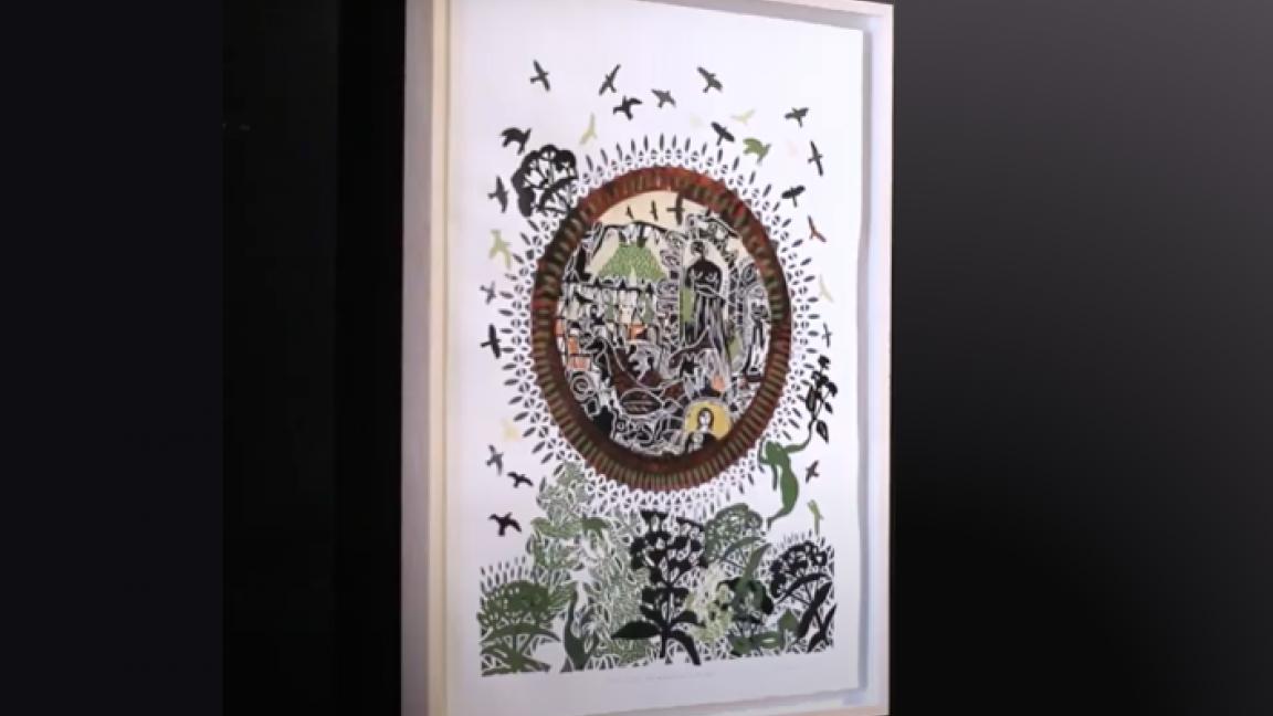 Tirage de l'oeuvre de l'artiste René Derouin