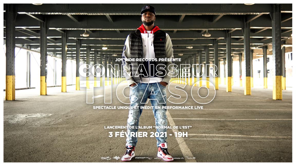Lancement de l'album Normal de l'Est - Connaisseur Ticaso en performance virtuel