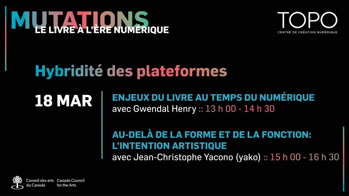 Hybridité des plateformes | Présentations de Gwendal Henry et Jean-Christophe Yacono (yako)