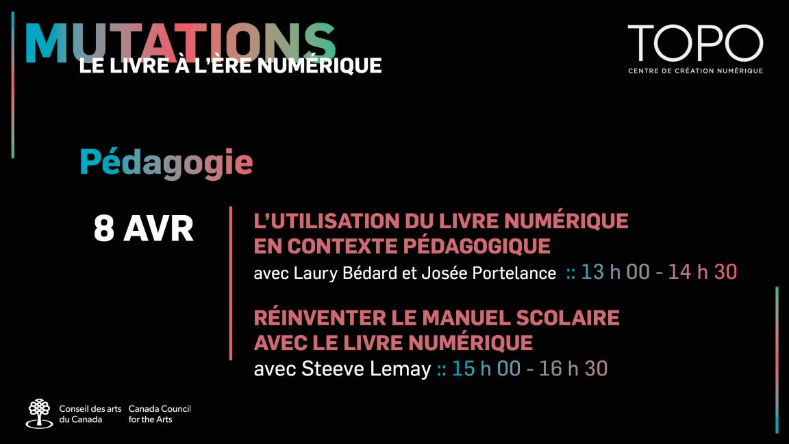 Pédagogie | Présentations de Laury Bédard et Josée Portelance + Steeve Lemay