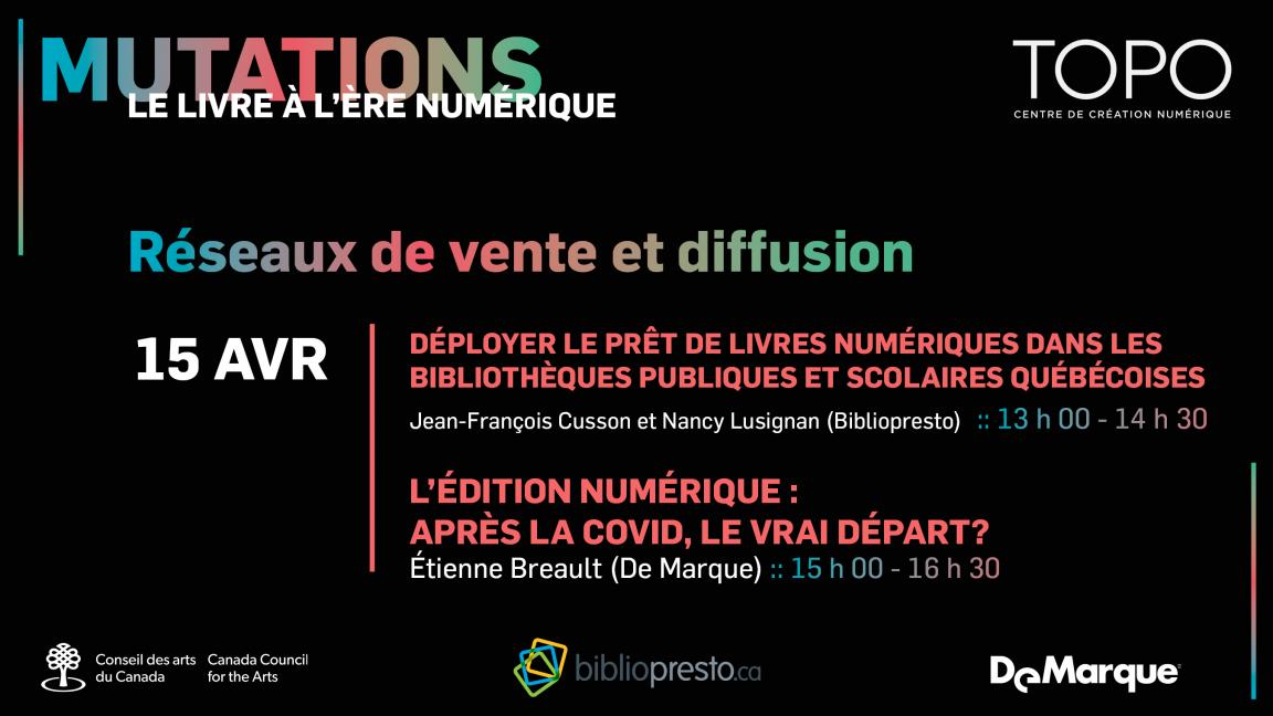 Réseaux de vente et diffusion | Présentations de Bibliopresto et De Marque
