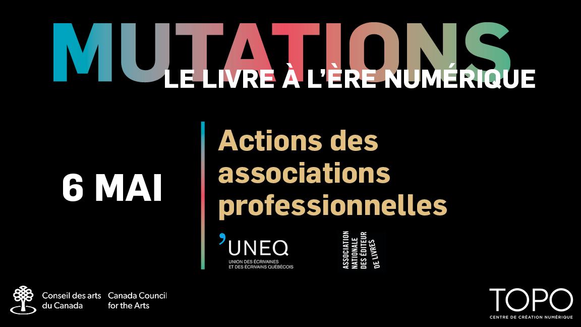 Actions des associations professionnelles | Présentations de l'ANEL et l'UNEQ