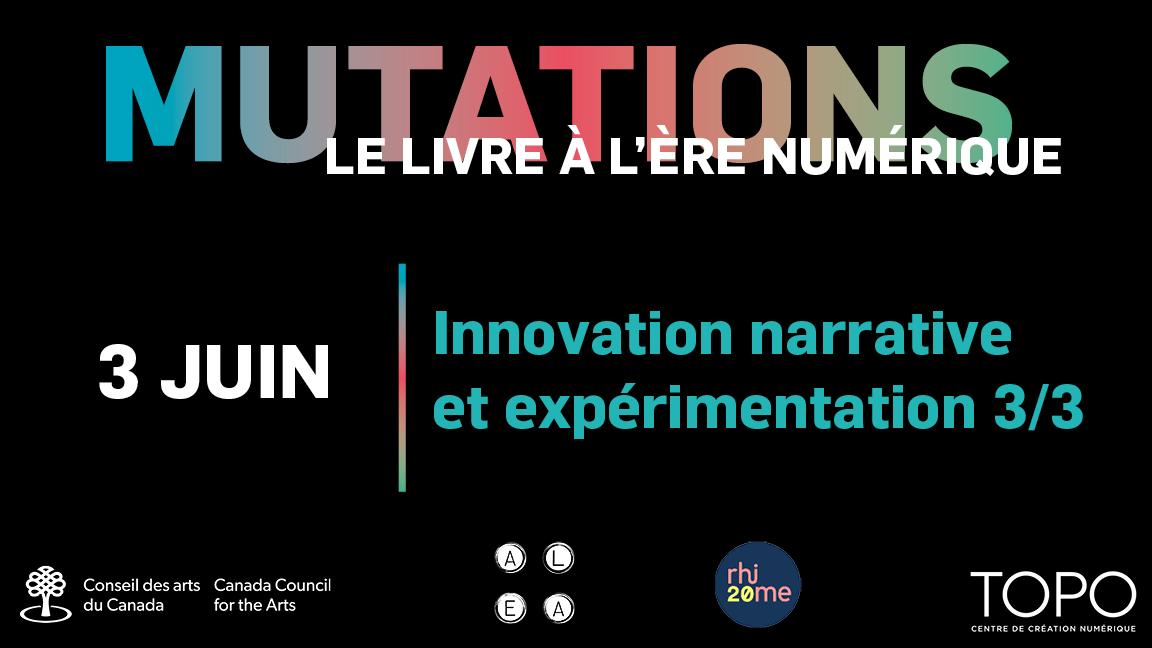 Innovation narrative et expérimentation 3/3 | Présentations des éditions Alto (Laboratoire Alea) et Rhizome
