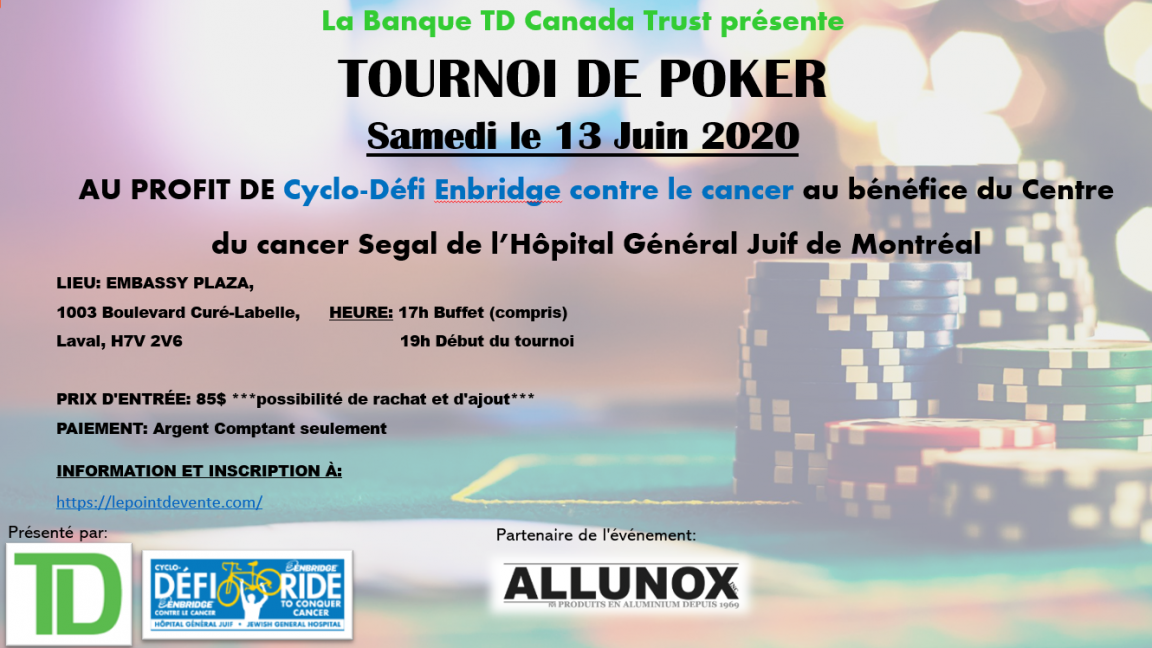 Tournoi de Poker Cyclo-Défi Enbridge