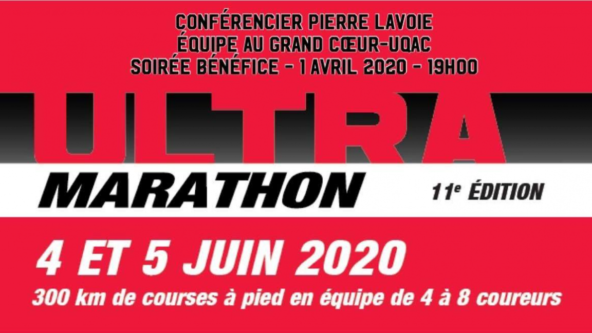Conférence Pierre Lavoie au profit de l'équipe Au Grand Coeur UQAC Leucan
