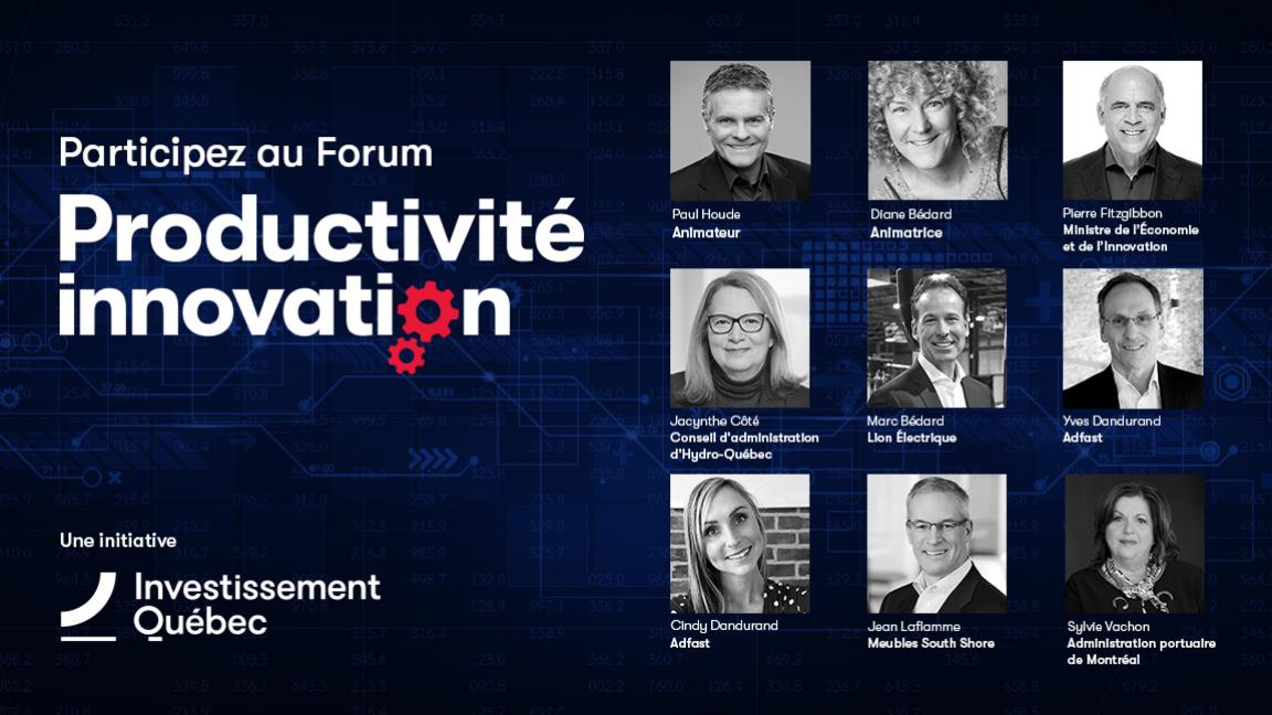 Forum Productivité innovation 2020 – Investissement Québec