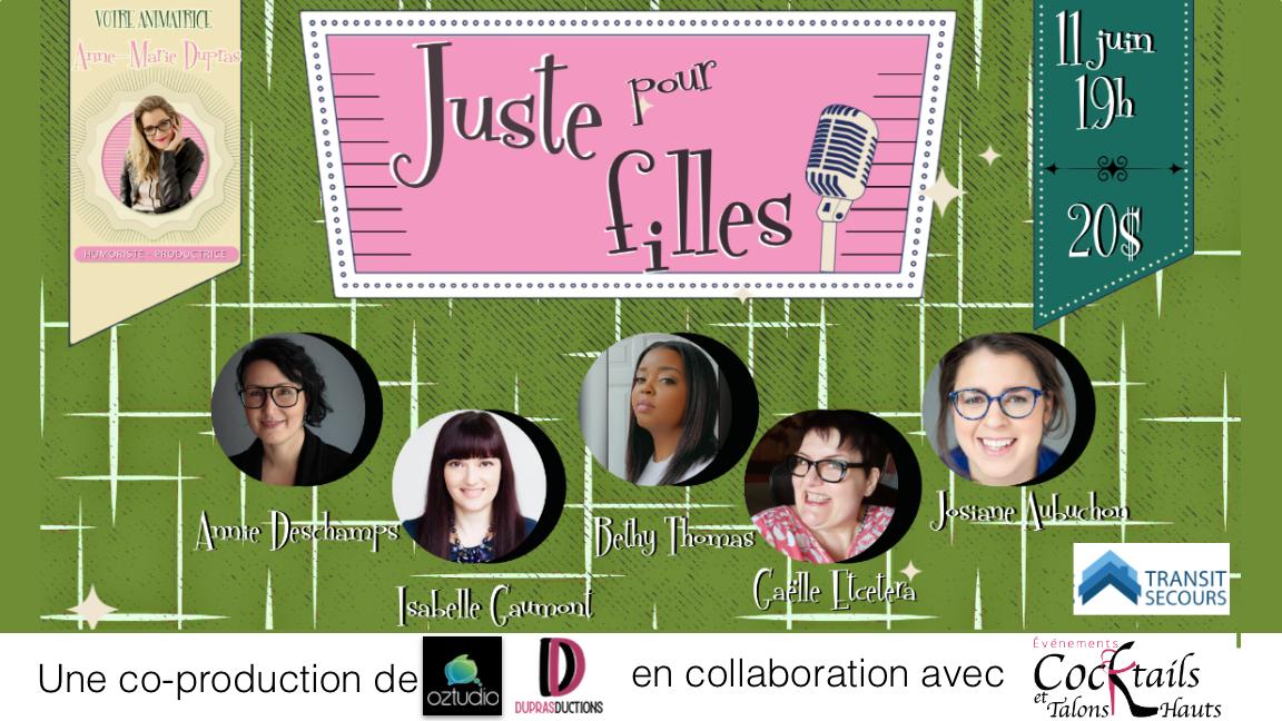 """""""Juste pour filles"""" Édition du 11 juin"""