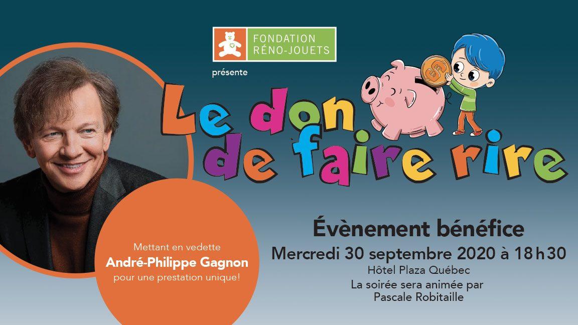 """""""Le don de faire rire"""" mettant en vedette André-Philippe Gagnon"""