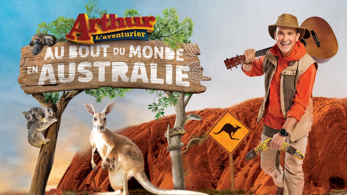 Arthur L'aventurier au bout du monde en Australie, Spectacle en direct
