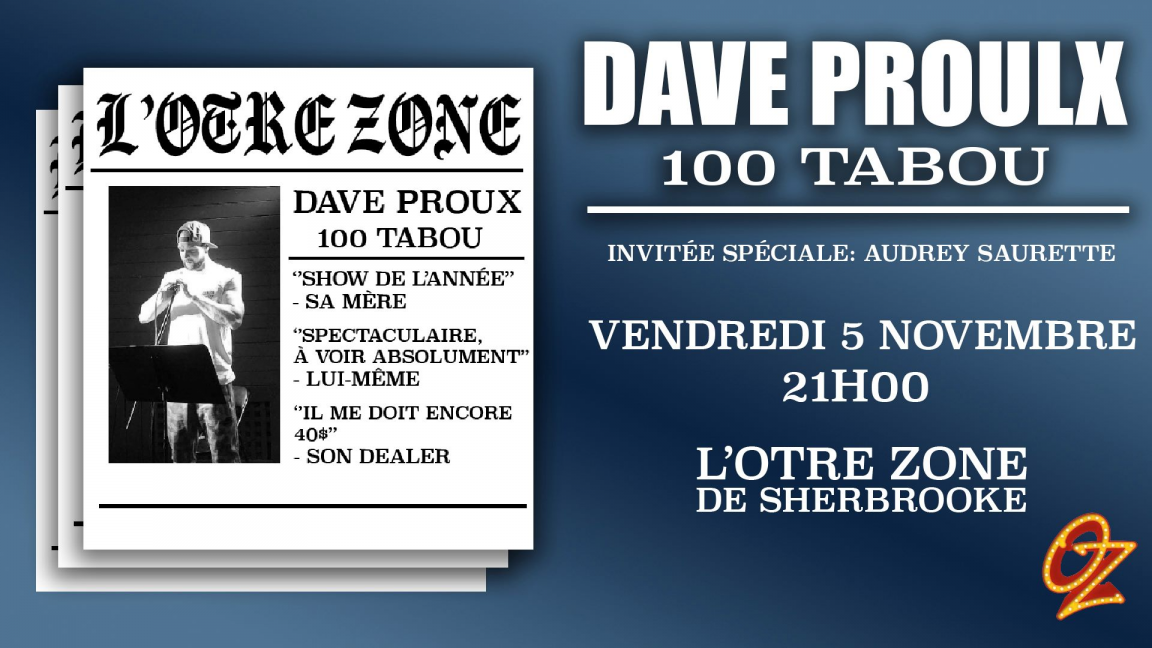Dave Proulx: spectacle humour