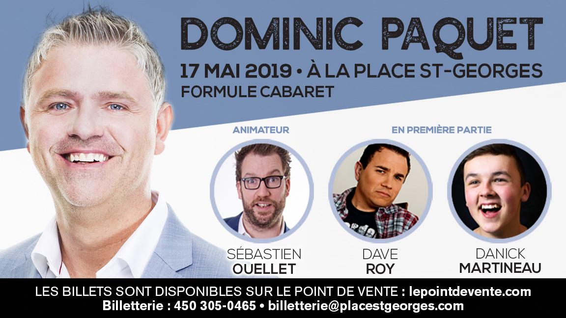 Soirée d'humour avec Dominic Paquet