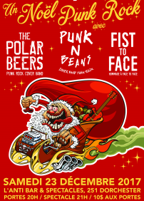 Punk N Beans, The Polarbeers, Fist To Face hommage à Face To Face