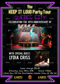 Le Keep it loud party tour avec, KISSED et LYDIA CRISS