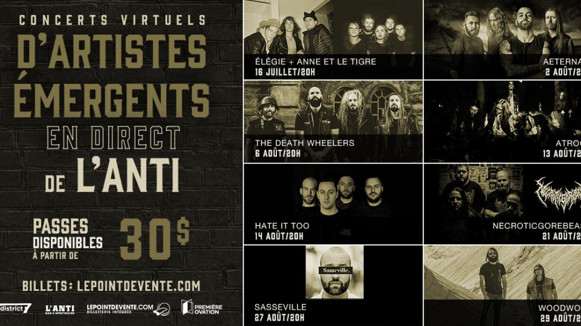 Passeport - Concerts virtuels d'artistes émergents