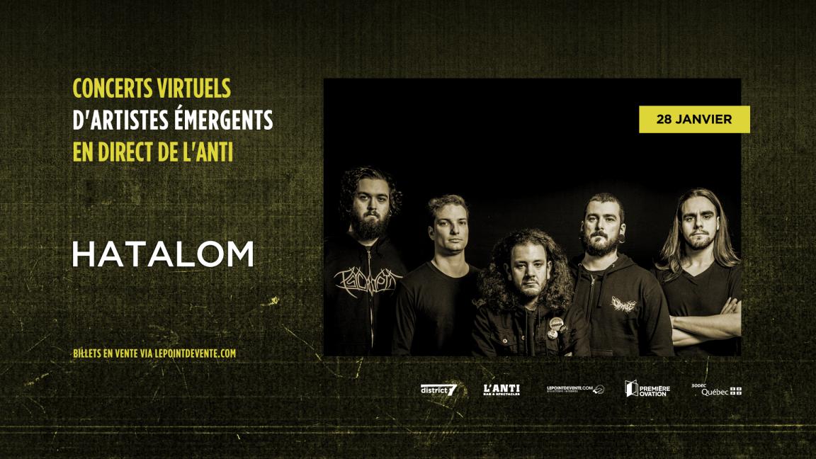 Hatalom - Concert virtuel en direct de L'Anti Bar & Spectacles