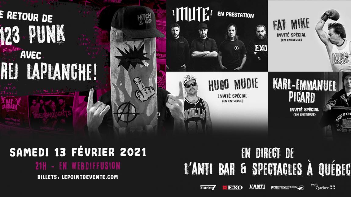 Le retour de 123 PUNK avec Rej Laplanche - En direct de L'Anti Bar & Spectacles (en différé)