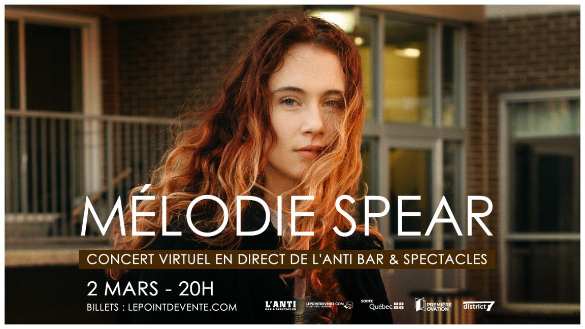Mélodie Spear - Concert virtuel en direct de L'Anti Bar & Spectacles