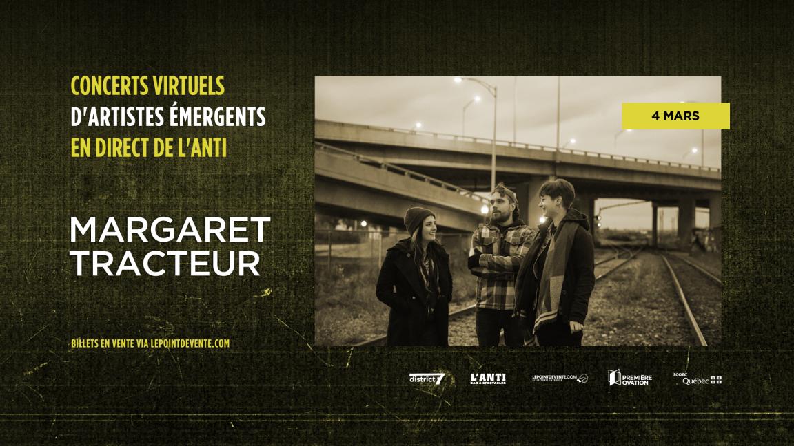 Margaret Tracteur - Concert virtuel en direct de L'Anti Bar & Spectacles