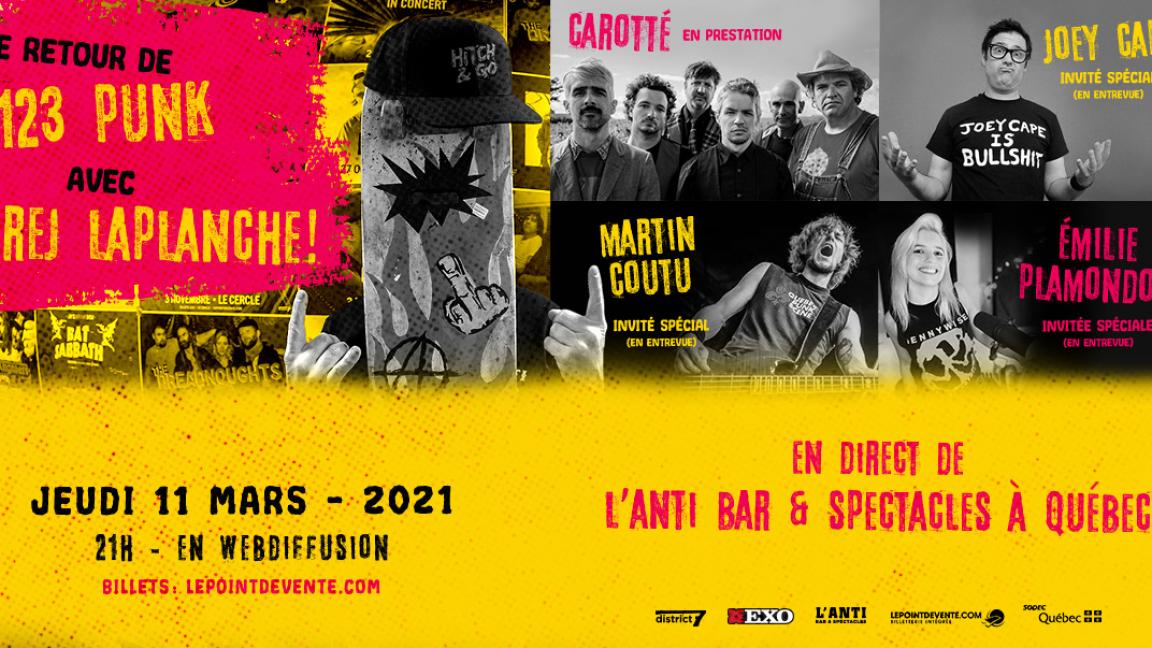 Le retour de 123 PUNK avec Rej Laplanche - En direct de L'Anti Bar & Spectacles