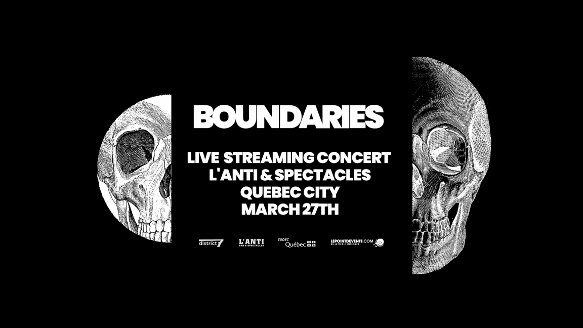 Boundaries - Live streaming concert from L'Anti Bar & Spectacles
