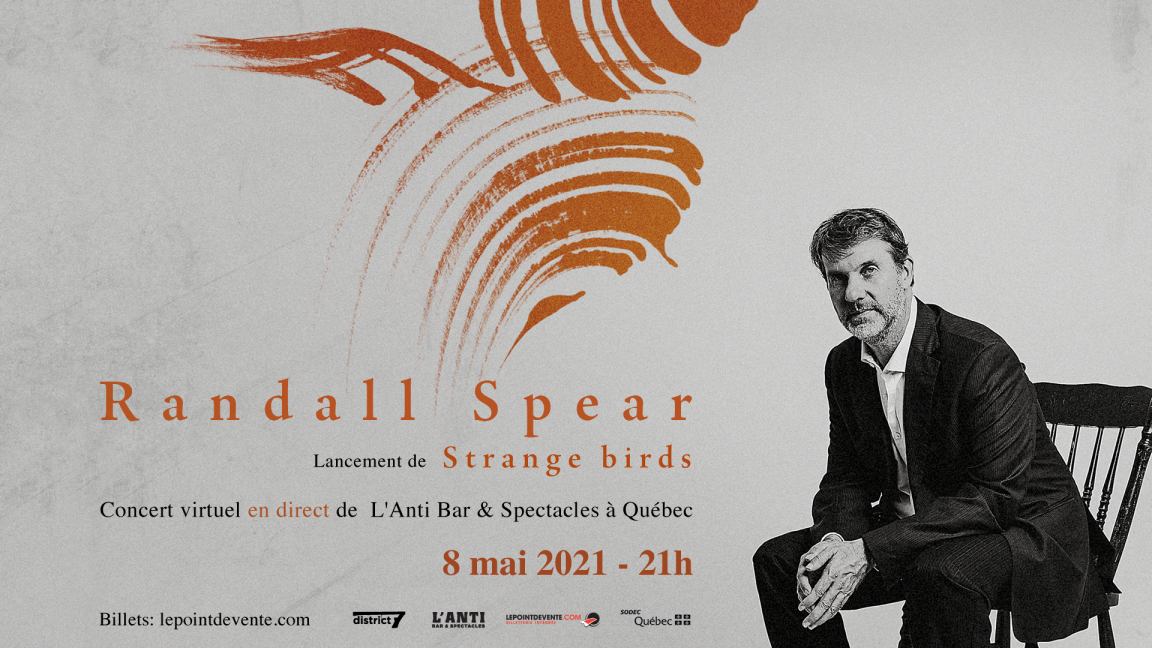 Randall Spear- Concert virtuel en direct de L'Anti Bar & Spectacles