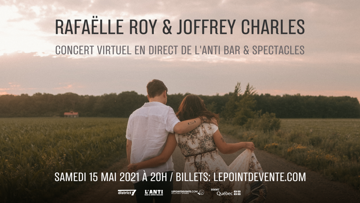 Rafaëlle Roy et Joffrey Charles - Concert virtuel en direct de L'Anti Bar & Spectacles