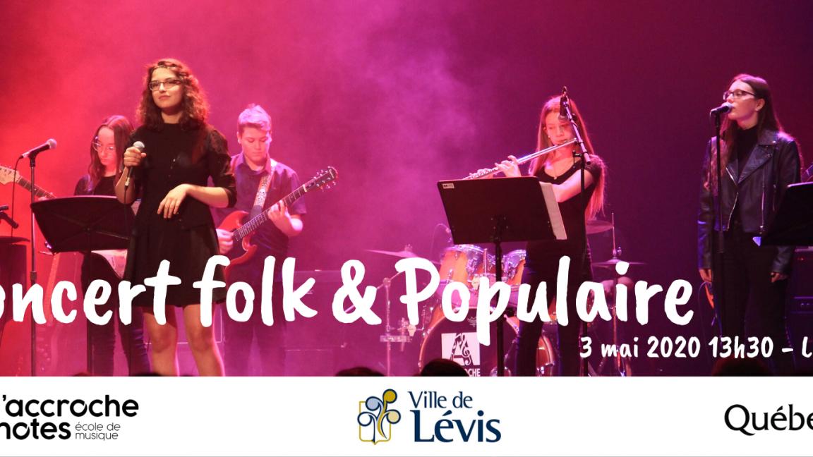 Concert Folk et populaire