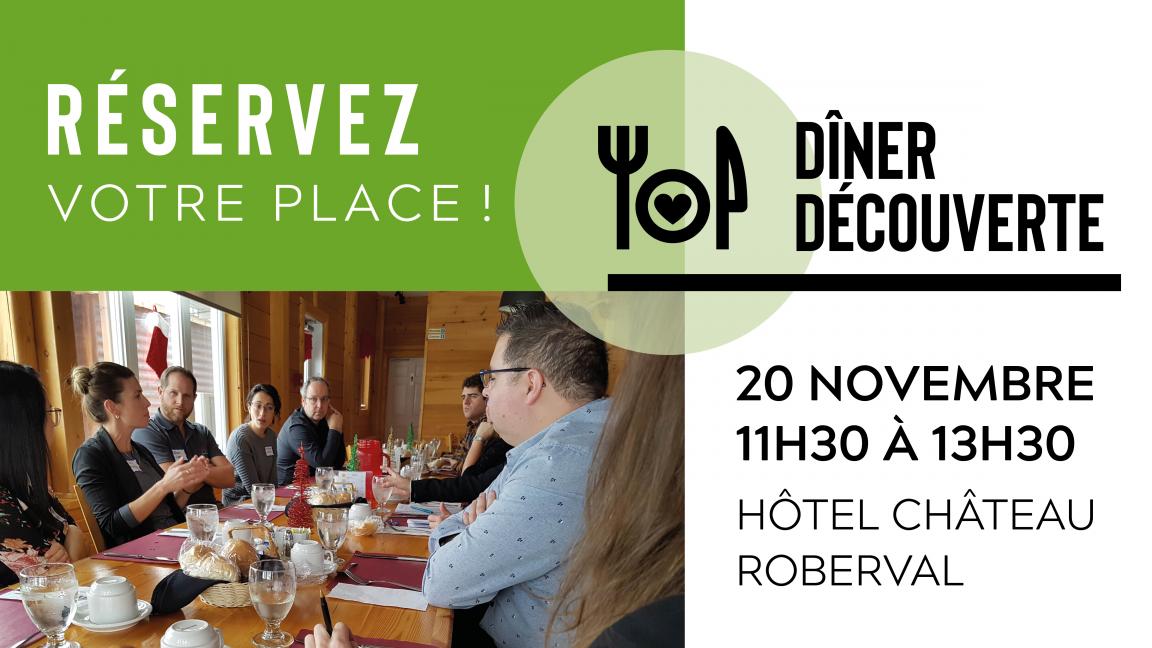 Dîner Découverte - 20 novembre 2019