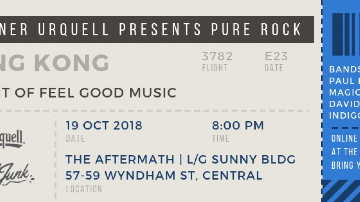 Pure Rock: A Night of Feel Good Music by Pilsner Urquell & All That Junk