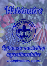 Webinaire - Le plan de marketing agroalimentaire