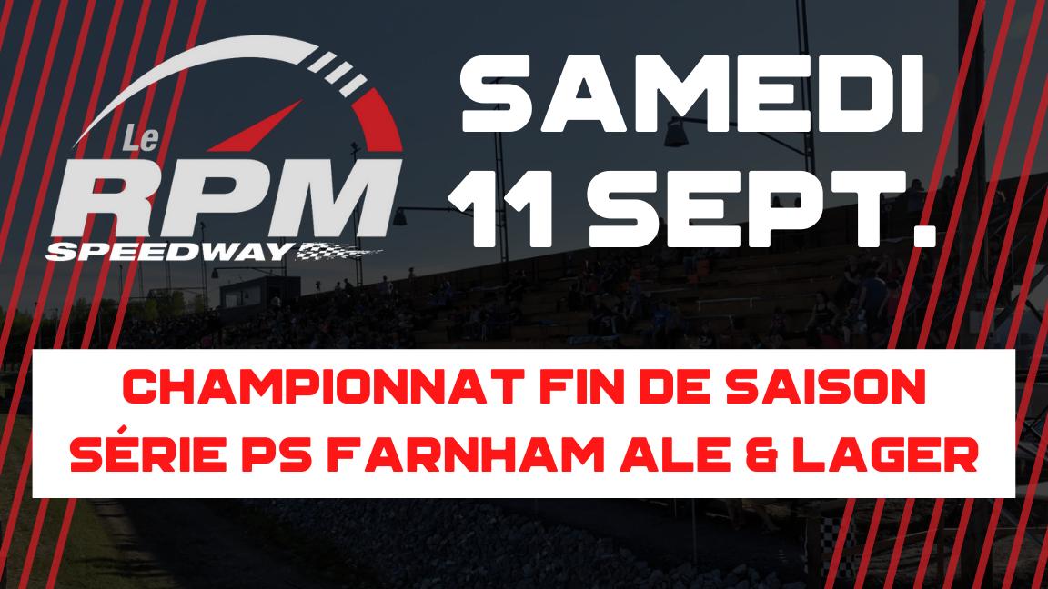 Championnat Fin de Saison / Série PS Farnham Ale & Lager