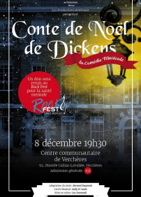 Les Productions Artémuse presents Le Conte de Noël de Dickens: Les Productions Artémuse – December 8th 2017 – Centre Communautaire de Verchères, Verchères, QC