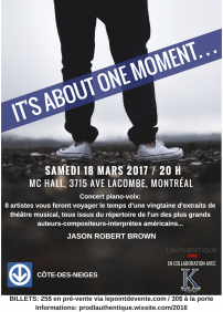 It's about one moment // Jason Robert Brown