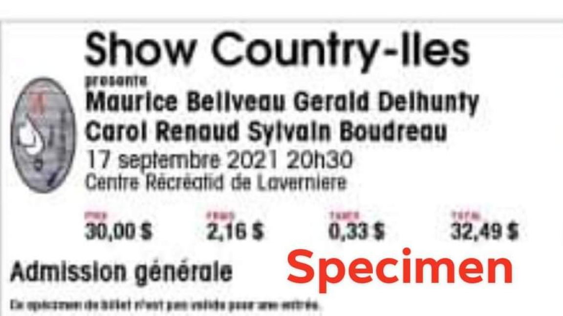 Show Country-iles ( performance September 17, 2021 8:30 p.m. )