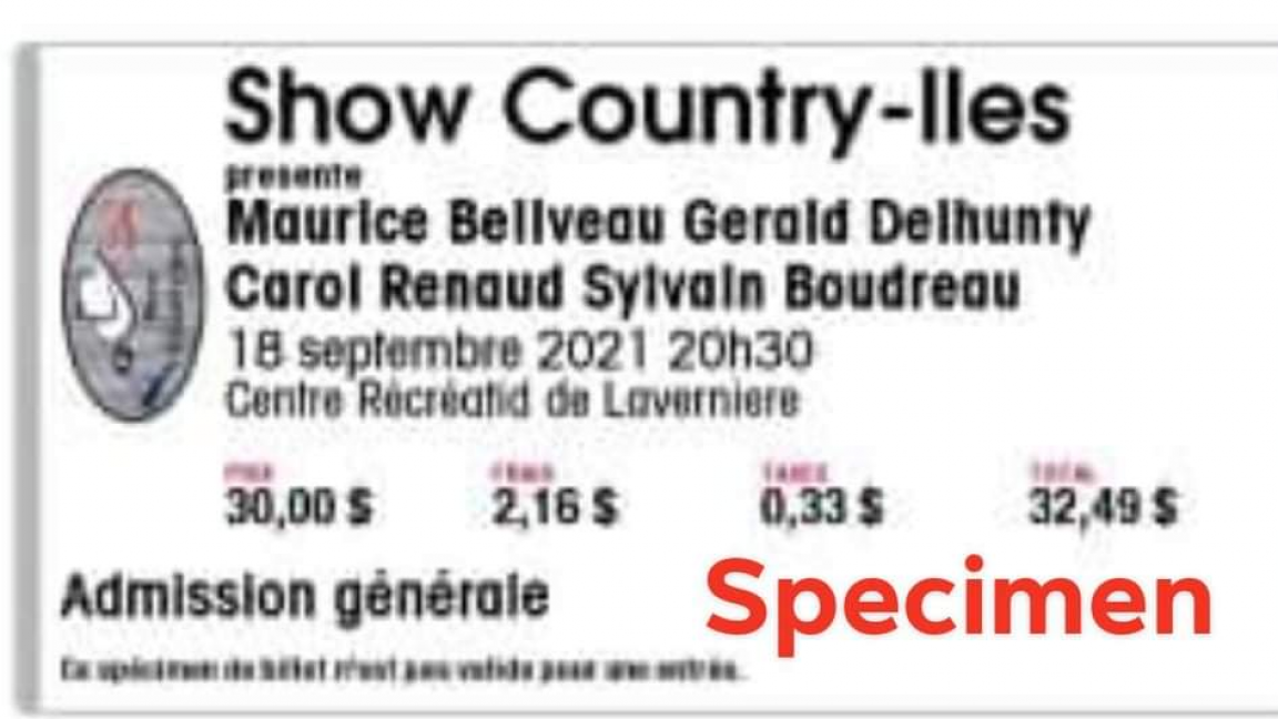 Show Country-iles ( performance September 18, 2021 8:30 p.m. )