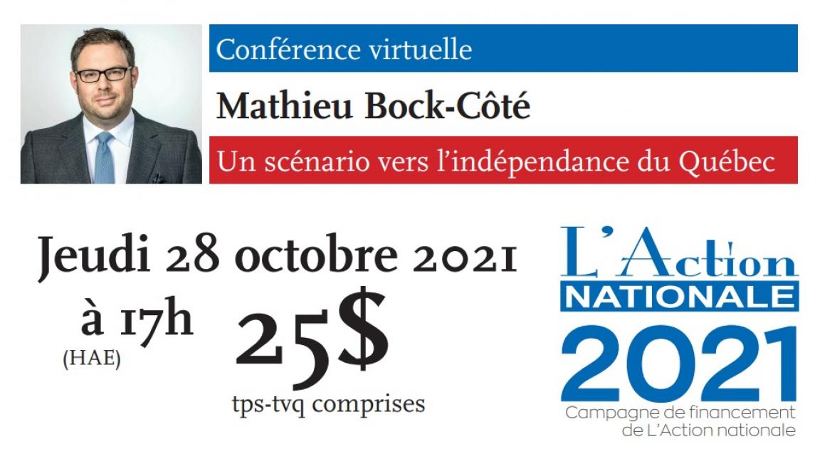 Conférence virtuelle de Mathieu Bock-Côté