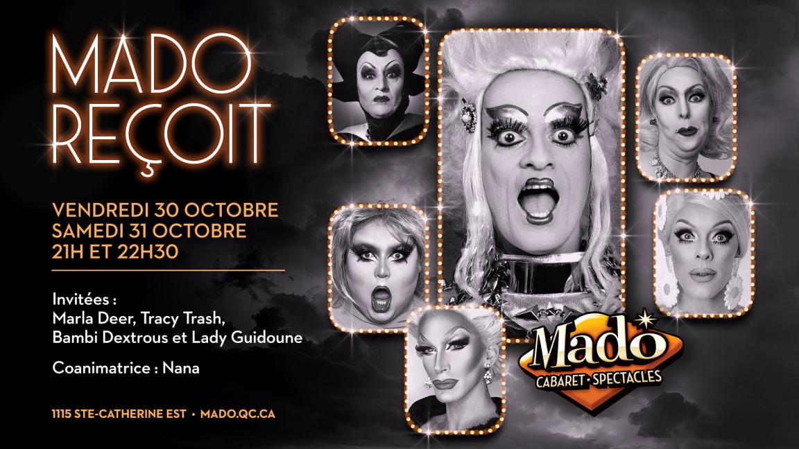 Mado Reçoit vendredi 30  octobre