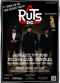 Bricks & Mortar Design Limited presents RUTS DC – Januari 31st 2018 – The Dairy @ Fringe Club, Central
