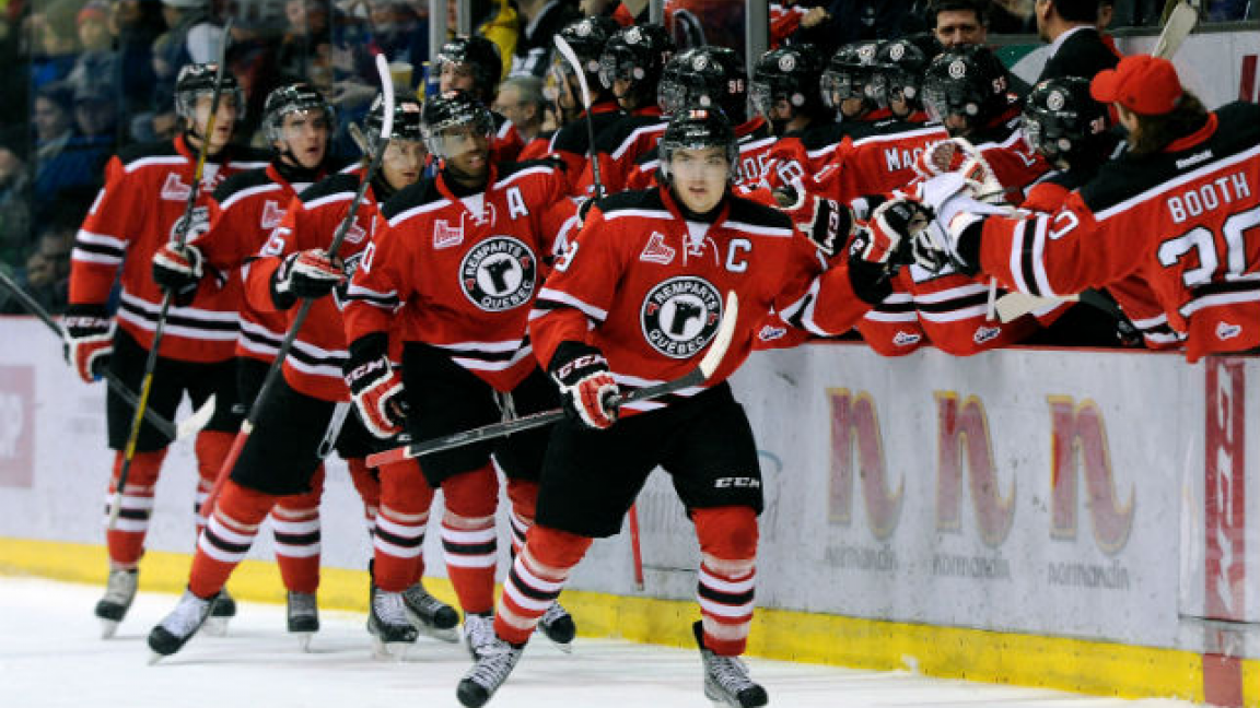 Hockey game of the Québec's Remparts