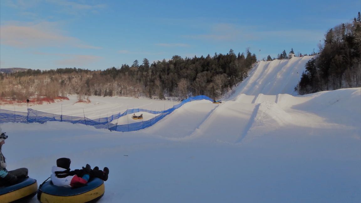 Snow sliding at Valcartier Vacation Village