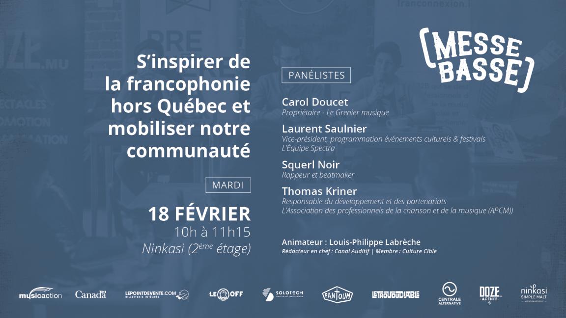 S'inspirer de la francophonie canadienne et mobiliser notre communauté