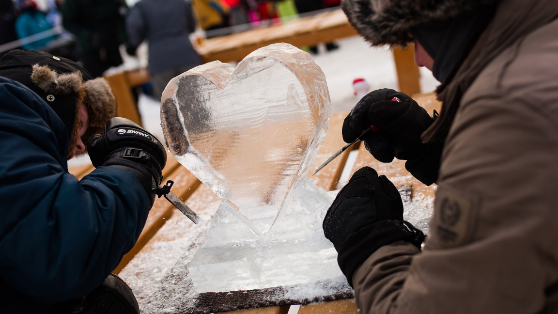 Ice Sculpture Workshops with Marc Lepire's Team