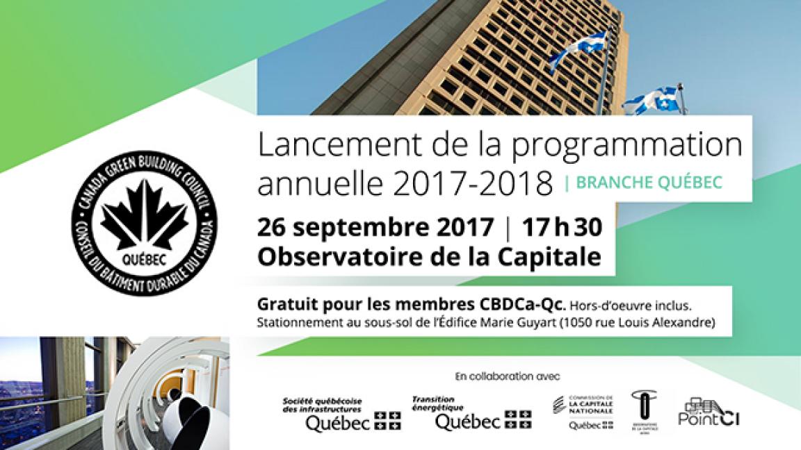 Lancement de la programmation des activités de Québec